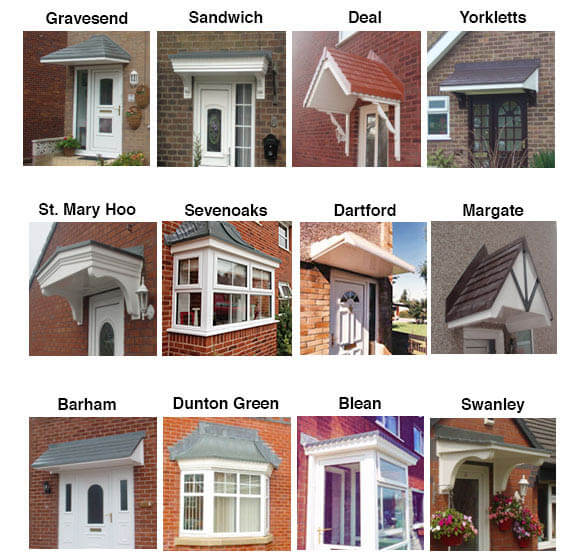 Over door canopies are a great way of shielding the rain whilst youu0027re locating your keys or opening your front door. & Porches Kent Canterbury Maidstone | uPVC Porches