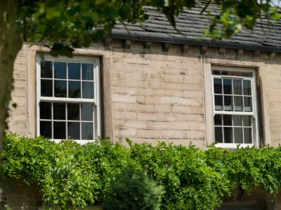 cream sliding sash
