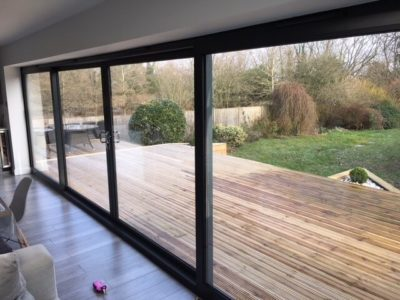 channel 4 aluminium sliding doors