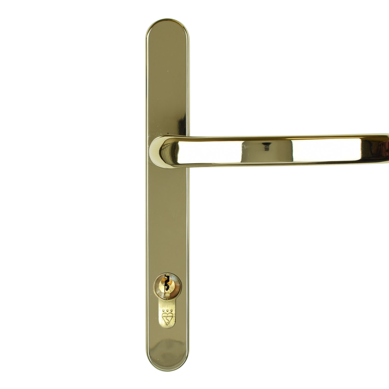 front door handle dda gold