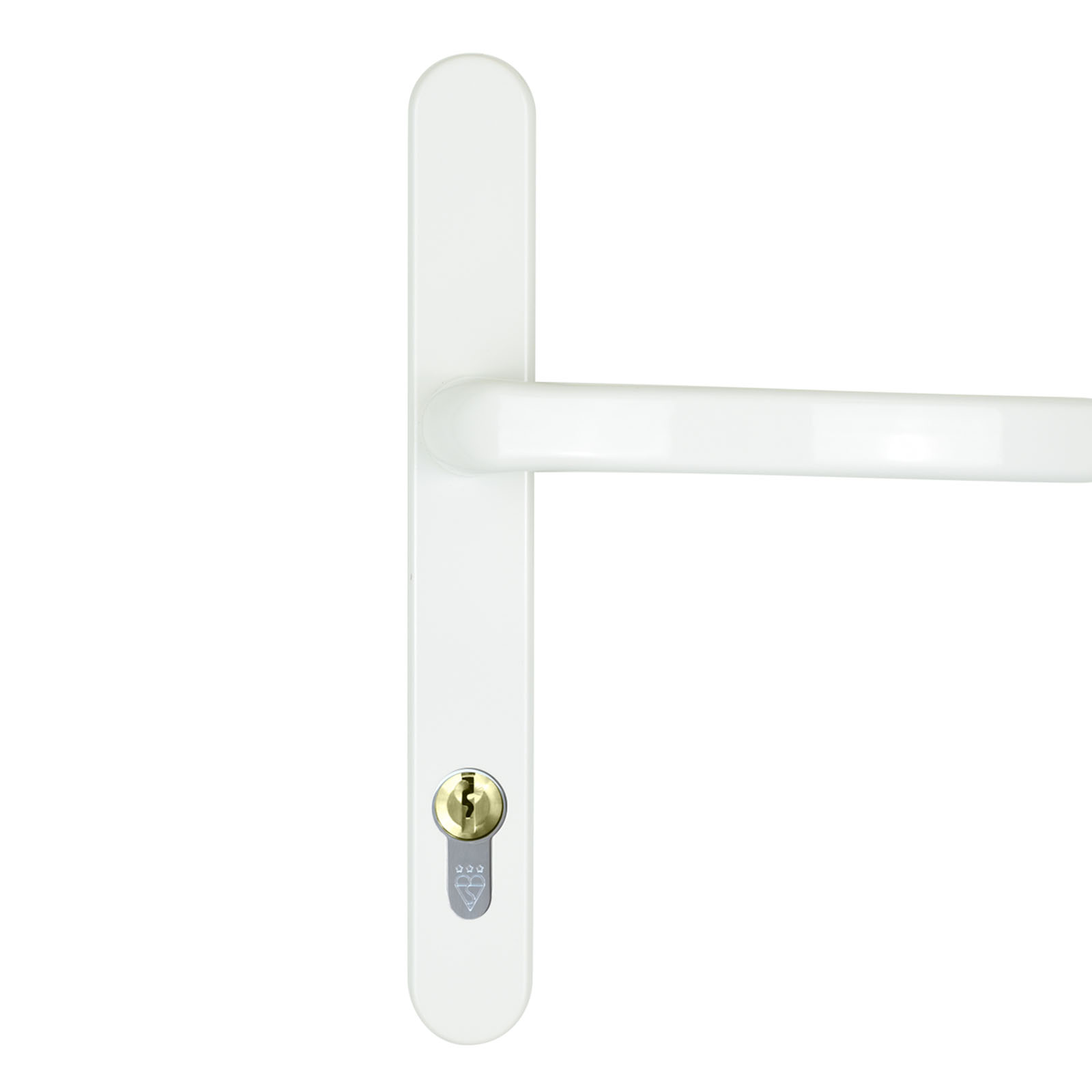 front door handle dda white