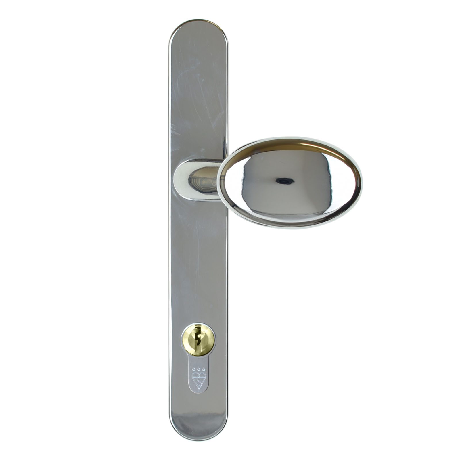 front door handle lever pad chrome