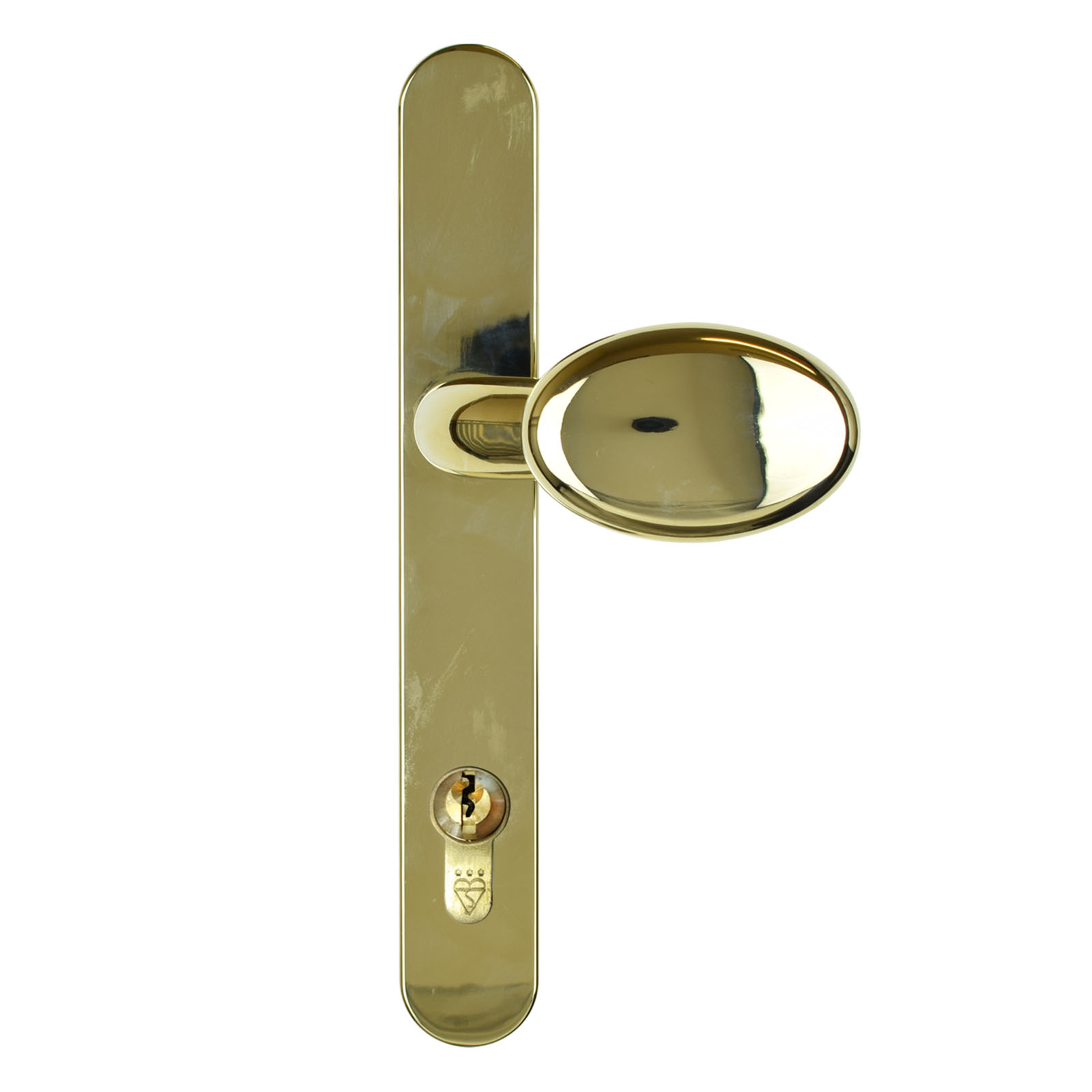 composite door handle lever pad gold