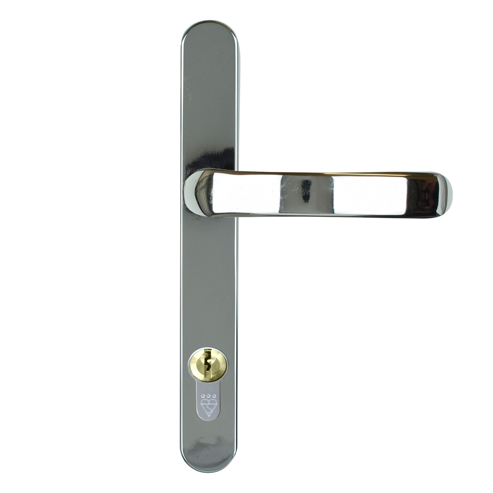 composite door handle stainless steel chrome