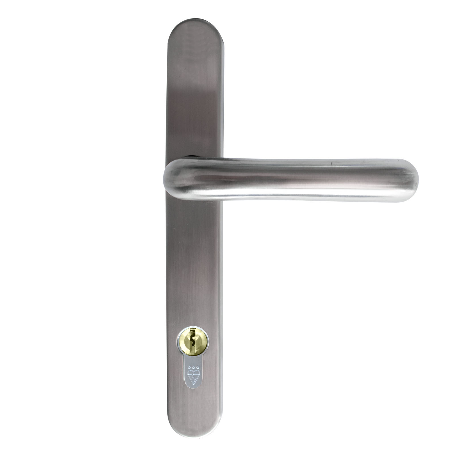 front door handle stainless steel satin