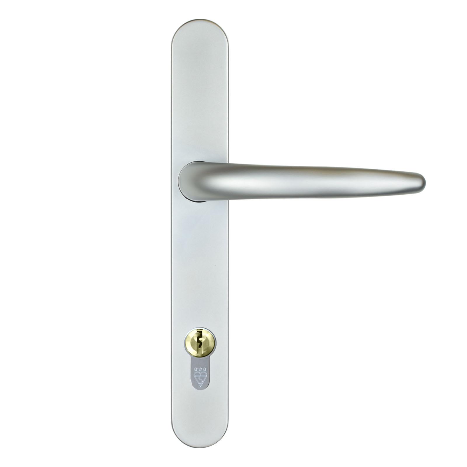 front door handle standard satin