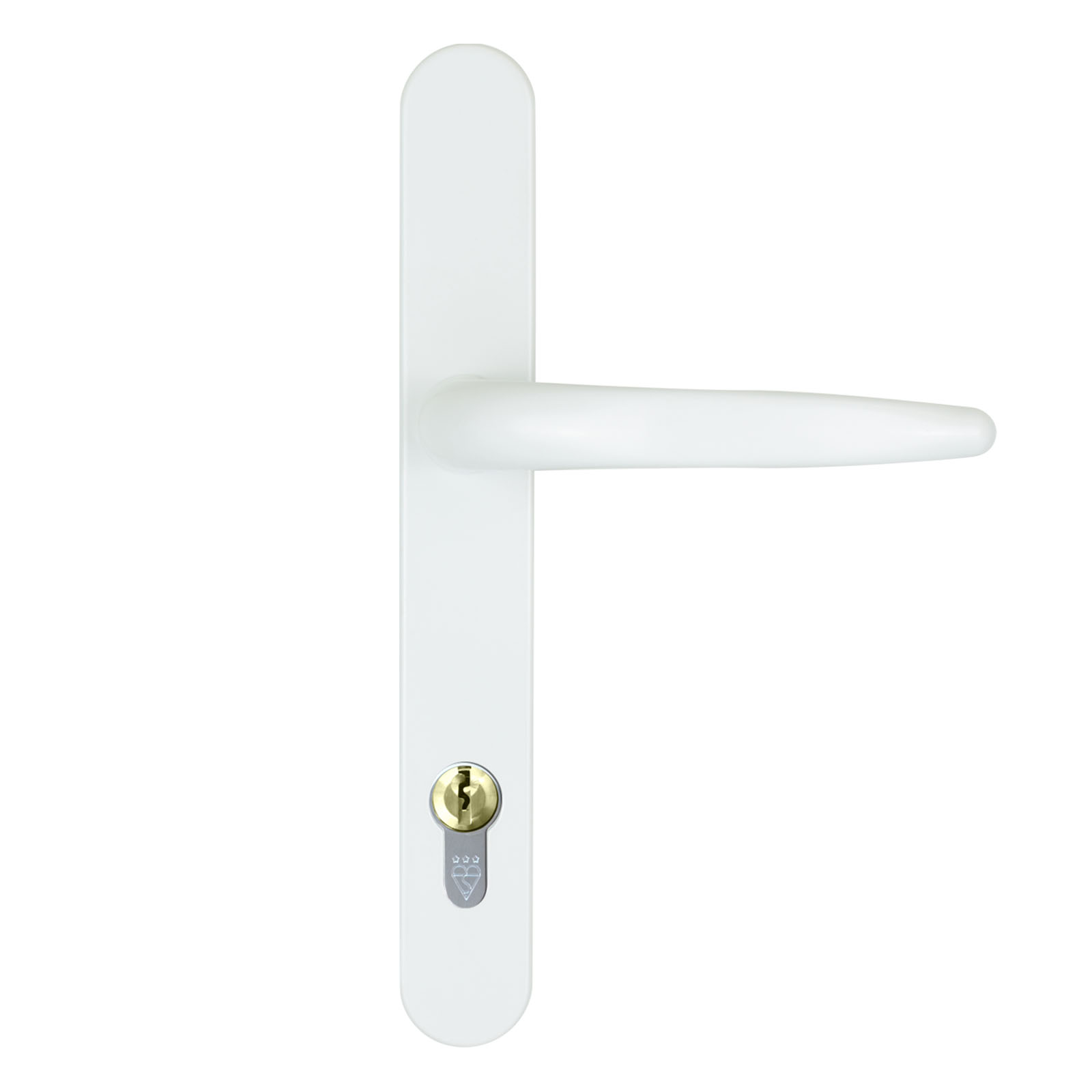 composite door handle standard white