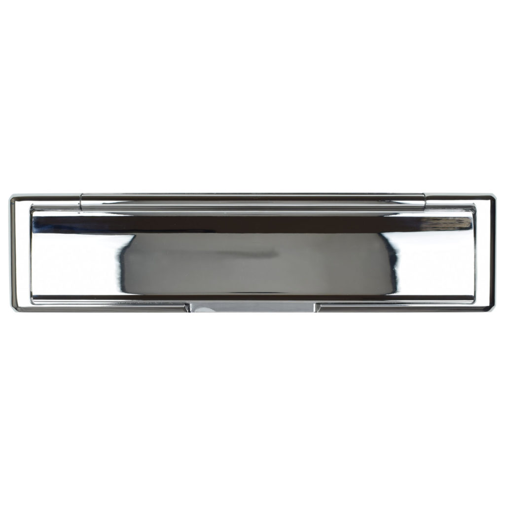 front door letterplate chrome