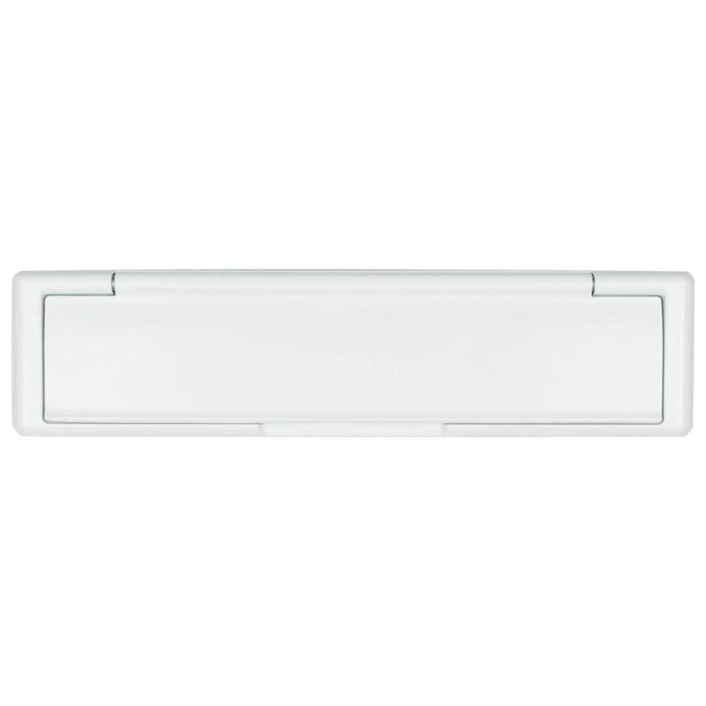 composite door letterplate white