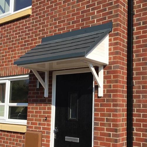 pitched door canopy