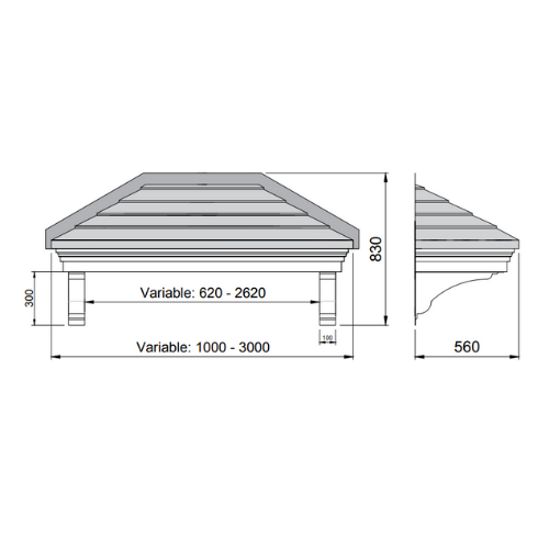 door canopy with side panels