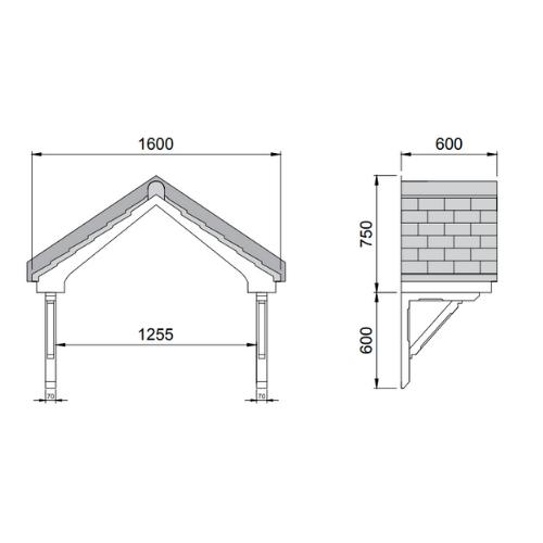 contemporary front door canopy